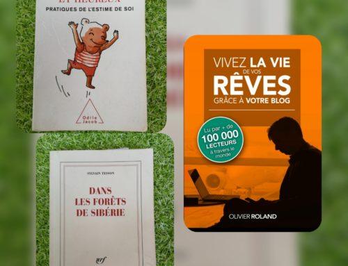 Les trois livres qui changent ma vie